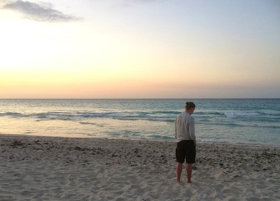 Solnedgång i Kuba.
